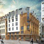 Viesnīcas jaunbūve Audēju ielā 12, Rīgā